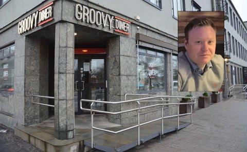 HAR BEGJÆRT OPPBUD: Groovy Diner stengte dørene for godt tirsdag denne uka. – Det er kjipt for oss som eiere, og ikke minst for de ansatte, som nå står uten jobb, sier daglig leder Ole H. Ueland.