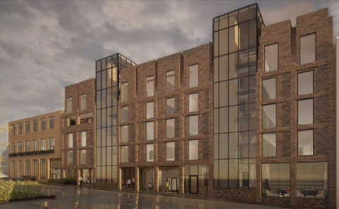 Slik vil utbyggjarane ha fasaden mot Skippergata.