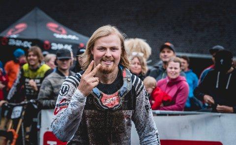 Brage Vestavik vant NM på Hafjell arrangert av Mysen IF. Han gledet seg stort over å se mange talentfulle syklister i Mysen-trøyer.