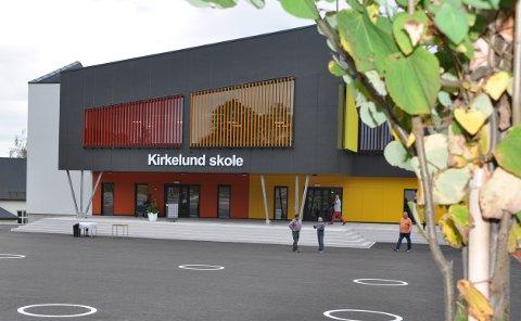 OFFISIELL ÅPNING: Det nye skolebygget til elevene på mellomtrinnet ved Kirkelund skole i Skiptvet stod ferdig til bruk for i februar i år.