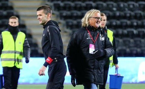 GODE NYHENDE: Eirik Bakke og Rasmus Mo kan endeleg gleda seg over at dei har fått datoane for seriestart i OBOS-ligaen.