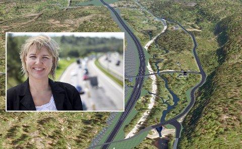 Negativ: Kommunikasjonssjef i NAF, Inger Elisabeth Sagedal, håper Nye Veier AS ikke får gehør hos Vegdirektoratet for å droppe vebelysning langs nye E18.