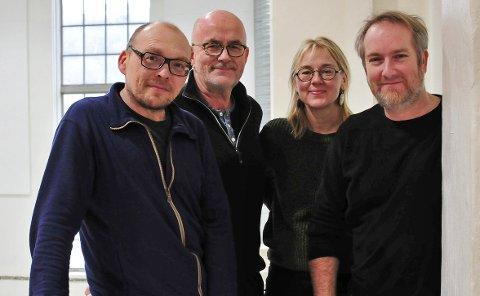SATSER: «Bugge booker» er et samarbeid mellom Skiensjazzdraget, Grenland jazzforum, Parkjazz og Spriten kunsthall. F.v. Bugge Wesseltoft, Ragnar Nilssen, Hanne Christensen og Tom-Erik Lønnerød.