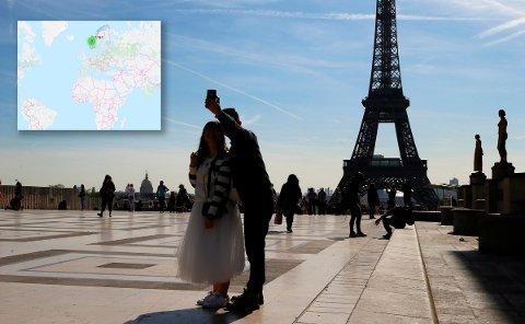 Ta en selfie i Paris eller hvor du nå er på ferie, last det opp på tk.no og del ferieminnet med Tidens Kravs lesere.
