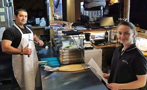 Kokk Zinar Ali og servitør Yvonne Nordseth på Dags pub håper på mer å gjøre snart.