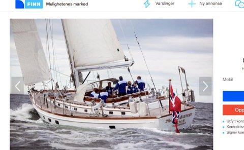 LUKSURIØS: Moondancer er en sjelden, og luksuriøst utstyrt, 25 år gammel seilbåt.