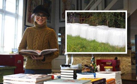 KUNSTNER OG MILJØVERNER: Hjemme fra atelieret på den gamle godsstasjonen i Sande, jobber Gunilla Holm Platou med miljøsaken.