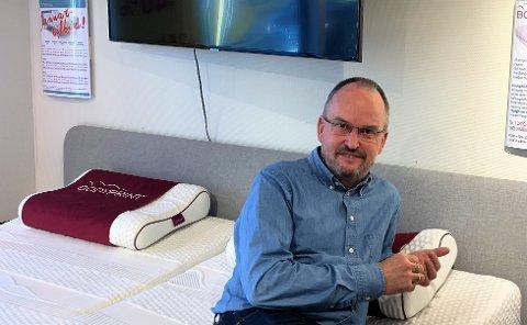 40 ÅR: For 40 år siden startet Harald Fagereng å selge vannsenger, det ble starten på Sengemakeriet Tønsberg.