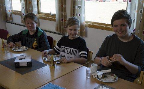 STOLTE: Tre stolte ambassadører for Holtålen til landsmønstring UKM i Trondheim i juni: Jo Håbjørg, Sander Skogås og Elias Andre Saksgård Melkersen.FOTO: KJETIL FOLDE