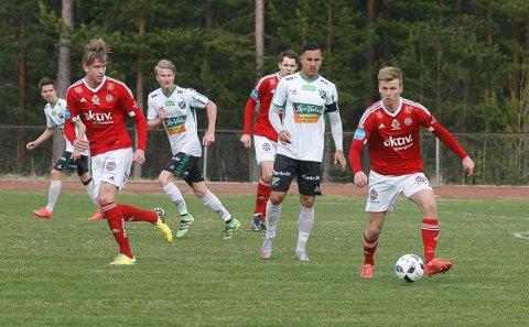 Viktig: Vebjørn Strypet, med ballen, skal neste sesong spille for Nardo.