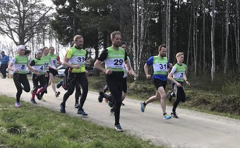 Starten går: Fra årets andre løp i årets friidrett sin Nord-Øst karusell i Galåen 31. mai. Foto: Oddvar Siksjø.