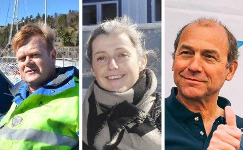 SØKT PÅ STILLINGEN: Fra venstre: Ralph Magne Blair Johansen fra Borøy, Siv Senneset fra Lyngør og Rients van der Woude fra Risør.