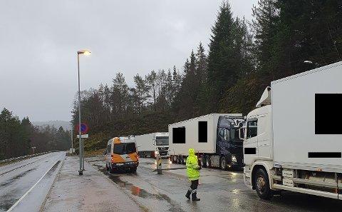 Denne veka hadde Statens vegvesen nok ein kontroll på Torvena. Bildet er frå ein kontroll i fjor.