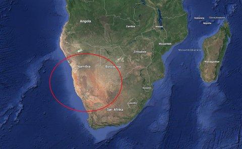 Vennene var på ferie i Namibia da ulykken inntraff.