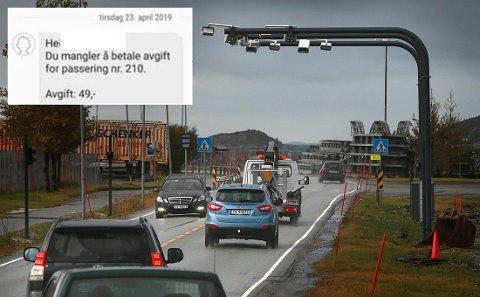 Snart nærmer det seg åpning av Bomstasjon på Rønvikleira.Avgifter.