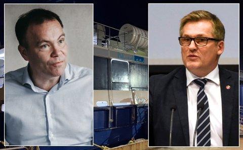 Fylkesrådsleder Tomas Norvoll (Ap) og Dagfinn OLsen (Frp).