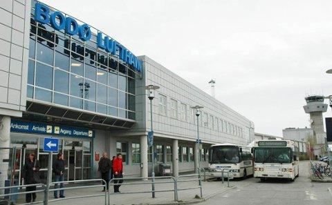 Arkivfoto av Bodø lufthavn.