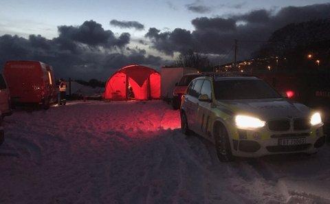 Leteaksjonens base ved Hunstad..