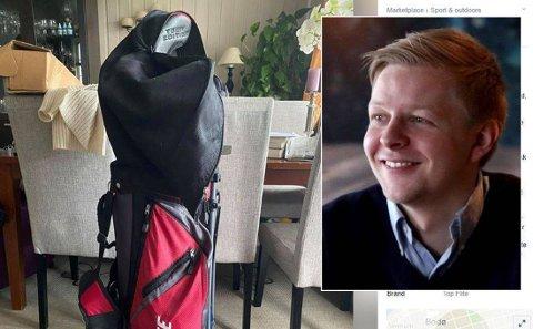 FRUSTRERT: Golfkøllene til Benjamin er godt brukt og har både hørt og fått merke hans frustrasjon gjennom årene.