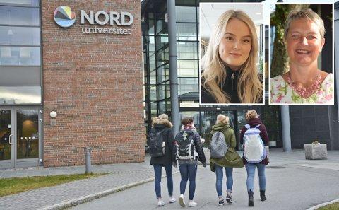 Fadderansvarlig Kristine Berg (t.v) og rektor ved Nord universitet Hanne Hansen har begge hatt det travelt i forkant av semesterstarten.