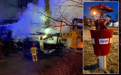 Brannhydranten fungerte ikke da brannvesenet ankom.