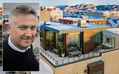 Legges ut: Johann Jørgen Koch går for å selge leiligheten sin i Bodø. Foto Tom Melby/ Tom Antonsen i Inviso.
