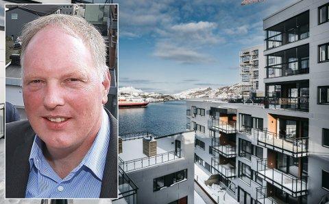 Førsteamanuensis Erlend Bullvåg ved Handelshøgskolen i Bodø. Ei leilighet i Ramsalt er til slags for nesten 19 millioner kroner.