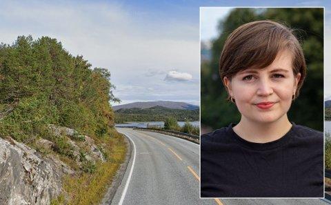 Nesten en halv milliard kroner er satt av til ny riksvei 80 mellom Sandvika og Sagelva. Leder for Kristelig Folkeparti Ungdom, Edel-Marie Haukland, er selv oppvokst i Bodø-område og har vært med i prosessen om å få strekningen inn på prioriteringslisten til NTP.