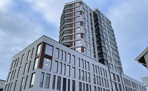 Leiligheten som er solgt ligger i øverste etasje av Bodø 360.