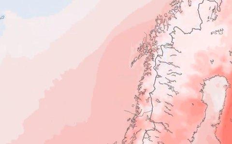 Onsdag når temperaturen 15 grader i store deler av Salten.