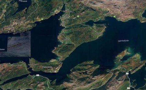 Den nye kraftledningen skal gå mellom Saltstraumen og Hopen i Bodø.