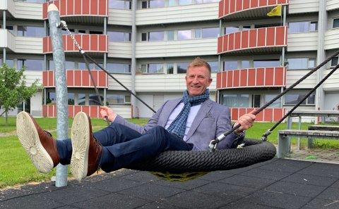 Thomas Normann utenfor Hellmyrbruddet i Bodø.