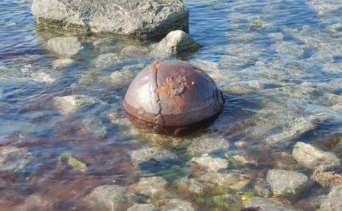 Denne kula ble finnet på Straumøya.