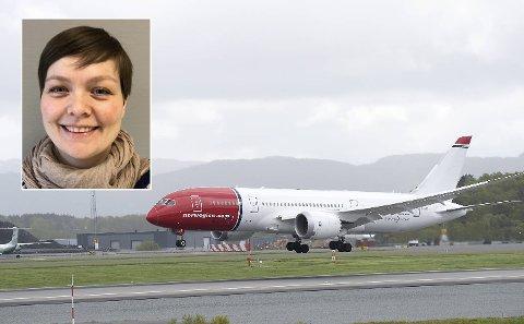 Tale Halsør og de andre reisende kom seg raskt fra London til Norge, men landet i feil by.