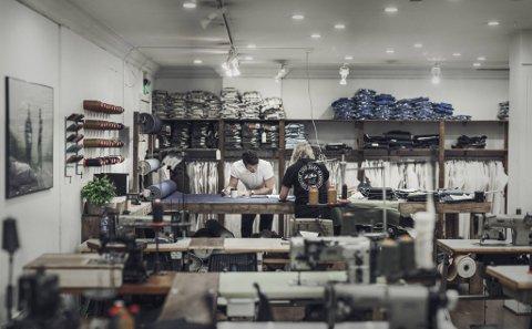 1. juni kommer Bergens første Livid-butikk på Galleriet. Slik ser jeansverkstedet deres ut i butikken i Trondheim.