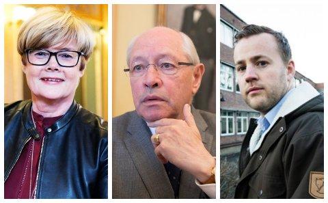 Kristin Ørmen Johnsen (H) har all grunn til å være fornøyd med meningsmålingen som sier at Høyre er det største partiet foran neste års valg. Martin Kolberg (Ap) og Lavrans Kierulf (Frp) er mindre fornøyd, men ser fram til å komme i gang med valgkampen.