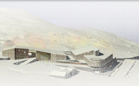 HOVUDBYGGET: Grafisk framstilling av hovudbygget i sentrum av Sogndal Fjelllandsby.