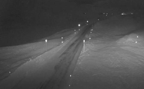 VIKAFJELLET: Bildet er tatt 981 meter over havet ved Vossadalen klokka 16.52.
