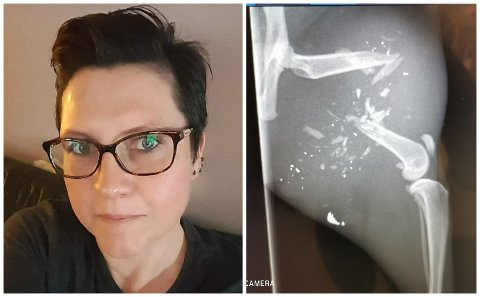 SKREMT: Beate Green er skremt over kva som skjedde med katten hennar Timba.