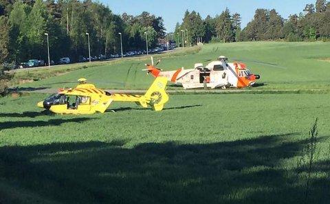 Kvinnen ble fløyet til Ullevål etter den alvorlige trafikkulykken torsdag 1. juni.