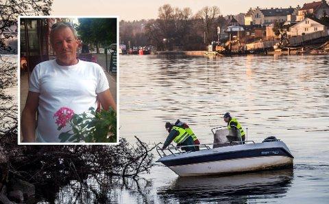 SAVNET: Svein Greaker Bellmann (60) er savnet etter å ha forsvunnet fra en fest i Nabbetorp Båthavn på nyttårsaften. Familien har søkt etter ham siden.
