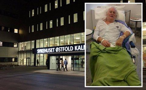 SYK: Stein Jensen fikk hjertestans tidligere i år. Familien er sterkt kritiske til behandlingen han har fått ved hjerteavdelingen på Kalnes.