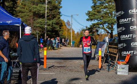 VANT: Gaute Halland Steiwerkom først i mål i Fredrikstadmarka Rundt.