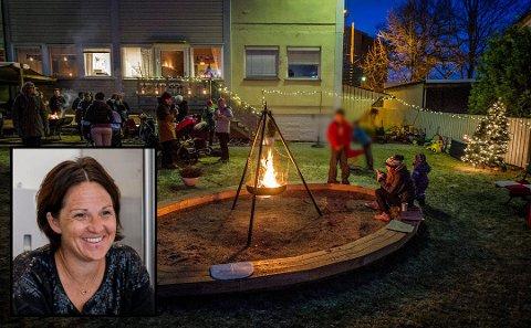 GODE OPPLEVELSER: For familiene tilknyttet Barnas Stasjon er det viktig å skape gode minner og tradisjoner sammen, forteller Hege Stormorken (innfelt). Dette bildet er fra en adventssamling for noen år siden.