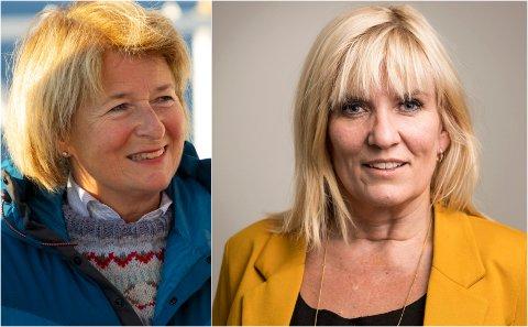 KRITISK: Harstad-ordfører Kari-Anne Opsal (til høyre) er kritisk til den manglende forankringen i Harstad og Narvik i nytt UiT-styre. Til venstre: Rektor Anne Husebekk.