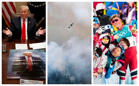 Trump ble toppsak i norske medier, det samme ble de rekordhøye sommertemperaturene og Vinter-OL i Pyeonchang.
