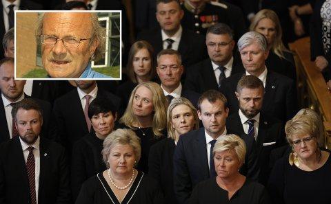 All forskning viser at Norge de siste tiårene er overrislet av nyliberalistisk ideologi. Det ser ut som Solbergregjeringen, det vil si nyliberalistiske politikere, har brutt ned gode norske sosialdemokratiske likhetsverdier, planøkonomi og statlig markedsstyring, skriver Noralv Veggeland.