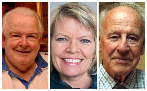NEI: Wolfgang Müller (f.v), Hilde Jorunn Hoven og Knut Korsæth har takket nei til OL-middagen lørdag.