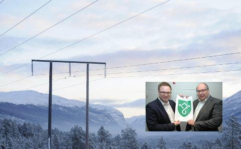 Fylkesordfører Even A. Hagen og fylkesrådsleder Per Gunnar Sveen kom ikke til enighet om Eidsiva-verdiene. - Verdiene  bør tilbake til områdene som har ulempene ved produksjonen, mener Eivind Brenna (V).