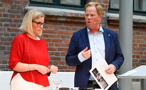 DUELLERTE: Arbeiderpartiets Ingunn Trosholmen vil ha et felles eiendomsselskap, mens Høyre-rival Oddvar Møllerløkken vil slippe Nye Veier til på Hovemoen.